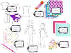How to Make Paper Dolls With Downloadable Patterns : Home Improvement : DIY Network  Templates for dolls and for clothes