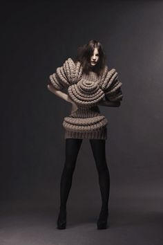 Sandra Backlund- Make Interesting Knitwear Clothing. - I really love the texture and shape of this Piece.
