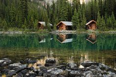 #log cabin #lake #cabin