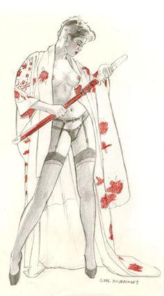 Samurai - Sketch, Greg Hildebrandt