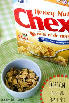 A fun and easy summer activity - design your own snack mix #SummerWithChex