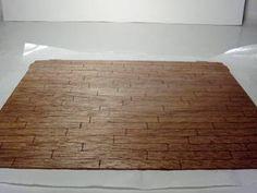 """new"" Hardwood Floor - made by scoring single piece of wood"
