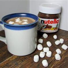 "Nutella Hot Chocolate | ""Rich, almost sinful hot chocolate!"" — sueb	http://allrecipes.com/recipe/nutella-hot-chocolate/detail.aspx"