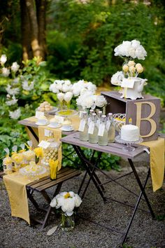 shower ideas, dessert tables, color, teas, outdoor parties