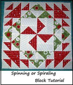 spiral quilt, quiltblock, quilt blocks, happi quilt