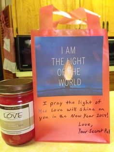 I am the Light of the World... add a candle... makes a great gift.      RSmith **