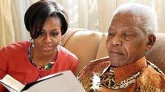 Nelson Mandela & Michelle Obama