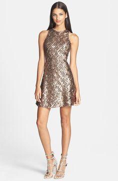 Bronze sequin #bachelorette party dress
