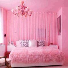 Pink bedroom!