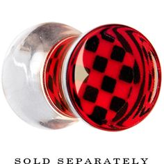2 Gauge Red and Black Checker Inlayed Saddle Plug