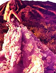 flower gown #bazaarflowers