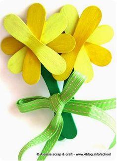 Flors amb pals de gelats