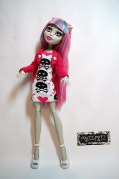 Monster High Doll Clothes  Skulls & Hearts Doll by mizzfitzdolls