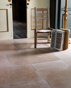 Dijon Tumbled Limestone from Mandarin Stone: Not dissimilar to traditional French or English Limestone but at a fraction of the cost. Rounded corners and edges create a lived in feel whilst the soft, neutral colours work well with all interiors. This product is one of our biggest successes to date! Also available in a 28mm thickness for exterior use. http://www.mandarinstone.com/product/_/72/dijon-tumbled-limestone-tile/
