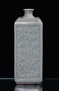 Green Celadon Porcelain Vase, China 19th Century