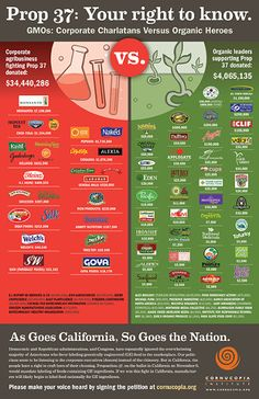 Which Organic Brands are Opposed to GMO Labeling? This Infograhic Will Surprise You