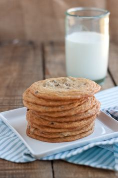 thin and chewy malted chocolate chip cookie