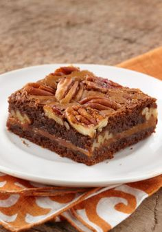 Caramel-Pecan Brownies – Gooey chocolate, melty caramel, crunchy pecans: Baker, prepare to take a bow, as these brownies become the star of the dessert table.