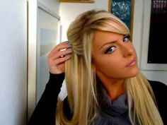Quick, Pretty Half Up Hairstyle Tutorial youtube video by FoxyLocksExtensions