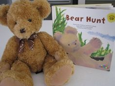 Book play ideas - We're Going on a Bear Hunt, Where is the green sheep?
