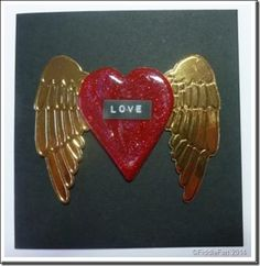 winged heart valentine card