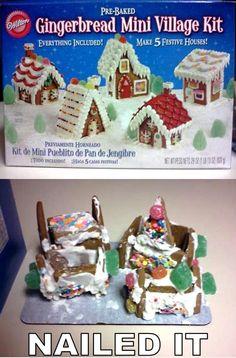 haha! cake wrecks, funni stuff, nail, laugh, christmas, ginger bread house, families, pinterest fail, gingerbread houses