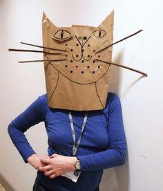 paper bag masks @Karen Garland-Kidder