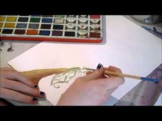 Painting with vintage watercolors