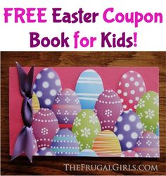 FREE Easter Coupon Book for Kids!  {stash these fun printable coupons into easter baskets as a coupon book... or cut them up and hide them in eggs!} #easter