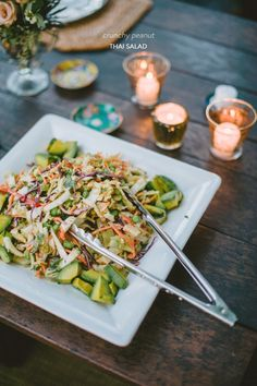 Crunchy Peanut Thai Salad from @NiliStevens Inspired Living  Read more - http://www.stylemepretty.com/living/2013/10/16/crunchy-peanut-thai-salad-from-nili-stevens-inspired-living/
