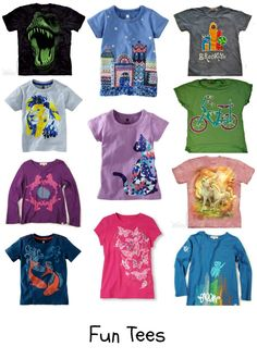 Kids' T-Shirt Roundup. Fab graphic tees for kids. --> super-cute for kids, from @Nicole Feliciano