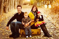 fall family pics, fall family photos, color schemes, old suitcases, family portraits, family photography, photo shoots, fall photos, fall family pictures