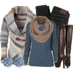 . sweater, weekend wear, color, blue, high heel boots, fall outfits, winter outfits, shoe, fashion designers