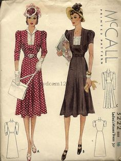1930s McCall dress pattern  I LOVE this dress!  Can't wait to use the pattern!