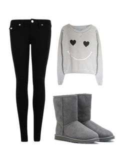 Cute winter outfit #ugg #boots