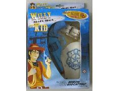 The Edison Giocattoli Willy the Kid Cap Gun Gift Set is the perfect gift for all children who wish they were living in the Wild West!    This blue cap gun and white US Marshall holster set with gold buckle comes complete with blue revolver and holster set and uses the Edison Giocattoli Superdisc 8 gun caps.