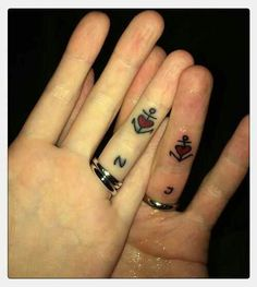 Love this couple tattoo idea. It even has our initials!