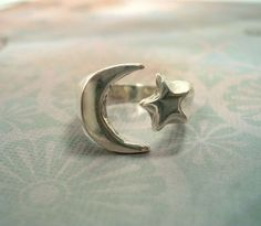 Star and moon ring. So cute