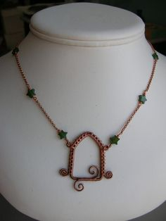 Copper Wire Wrapped Archway Necklace