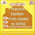 Free Fraction Families and Equivalent Fractions Bulletin Board Cards