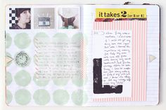 spread from Mandi's art journal- Making Nice in the Midwest