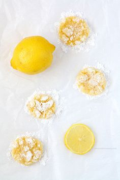 Lemon Coconut Crinkle Cookies   www.chocolatemoosey.com