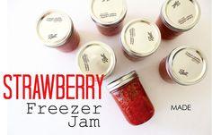 DIY Strawberry Freezer Jam | MADE