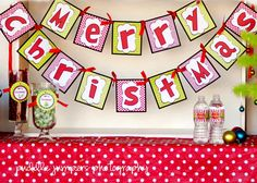 Grinch party  large banner across stage or wall or above serving area?