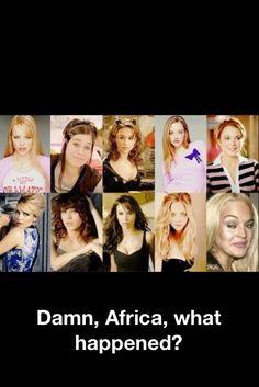 Hahaha. hahahah, giggl, funni, hilari, die, mean girls, humor, damn africa, happen