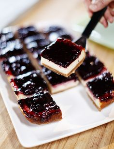 Pioneer Woman - Blackberry Cheesecake Squares