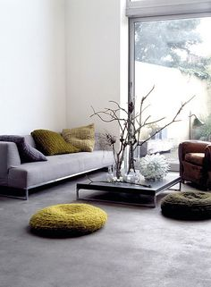 shades of calm #livingroom #screed
