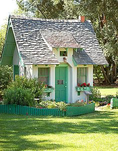APlaceImagined...What a delightful playhouse for my grandchildren to keep them happy all day!!