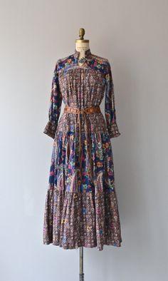 Laurel Canyon dress vintage 1970s dress cotton by DearGolden