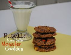 Nutella Peanut Butter Monster Cookies